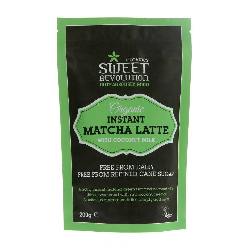 Sweet Revolution Instant Matcha Latte 200g - Shipping From Just £2.99 Or FREE When You Spend £55 Or More