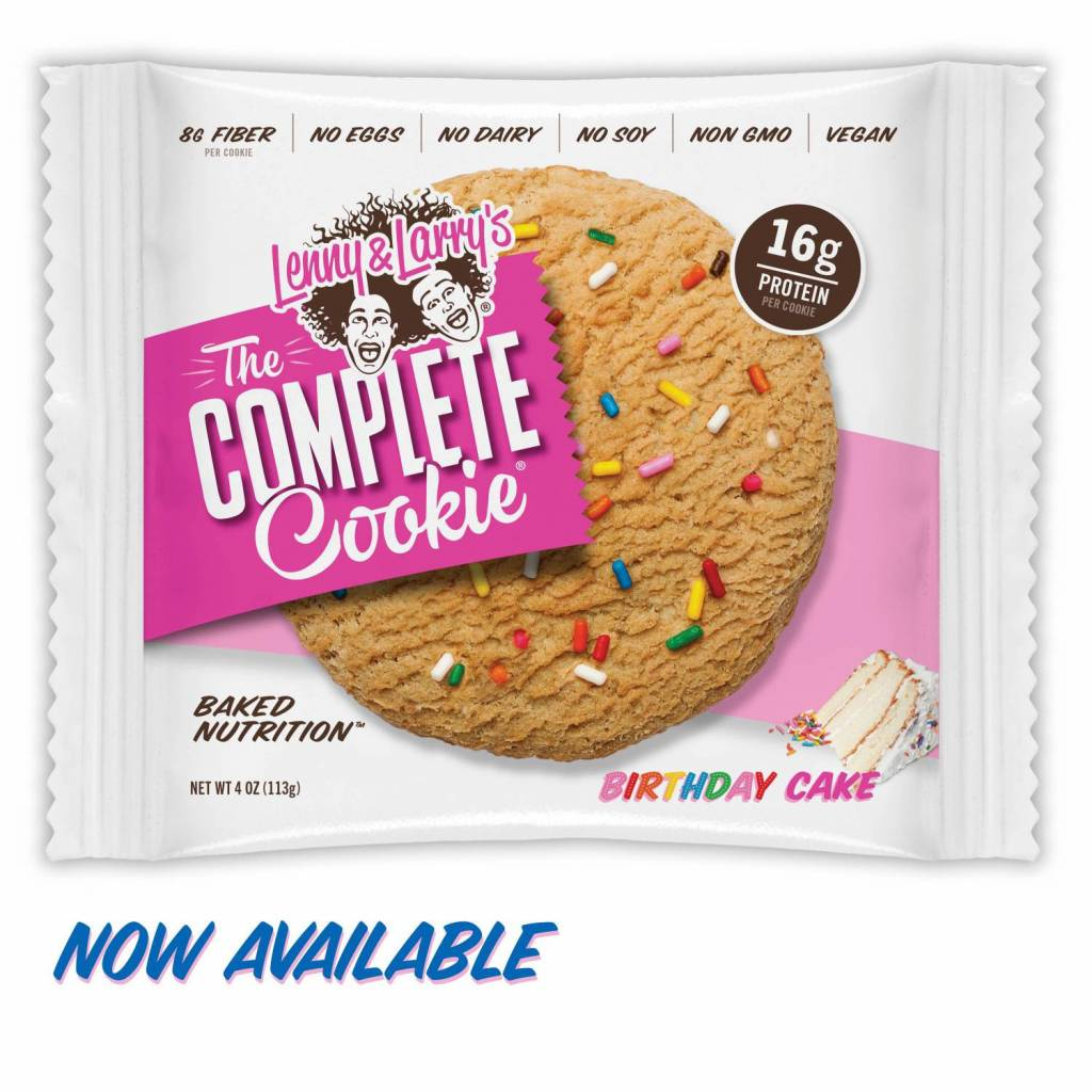 Lenny & Larry's Complete Cookie Birthday Cake 113g - Shipping From Just £2.99 Or FREE When You Spend £60 Or More