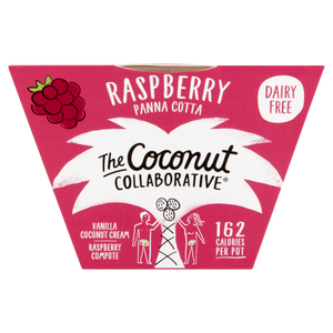 Coconut Collaborative Raspberry Panna Cotta Pot 80g - Shipping From Just £2.99 Or FREE When You Spend £55 Or More
