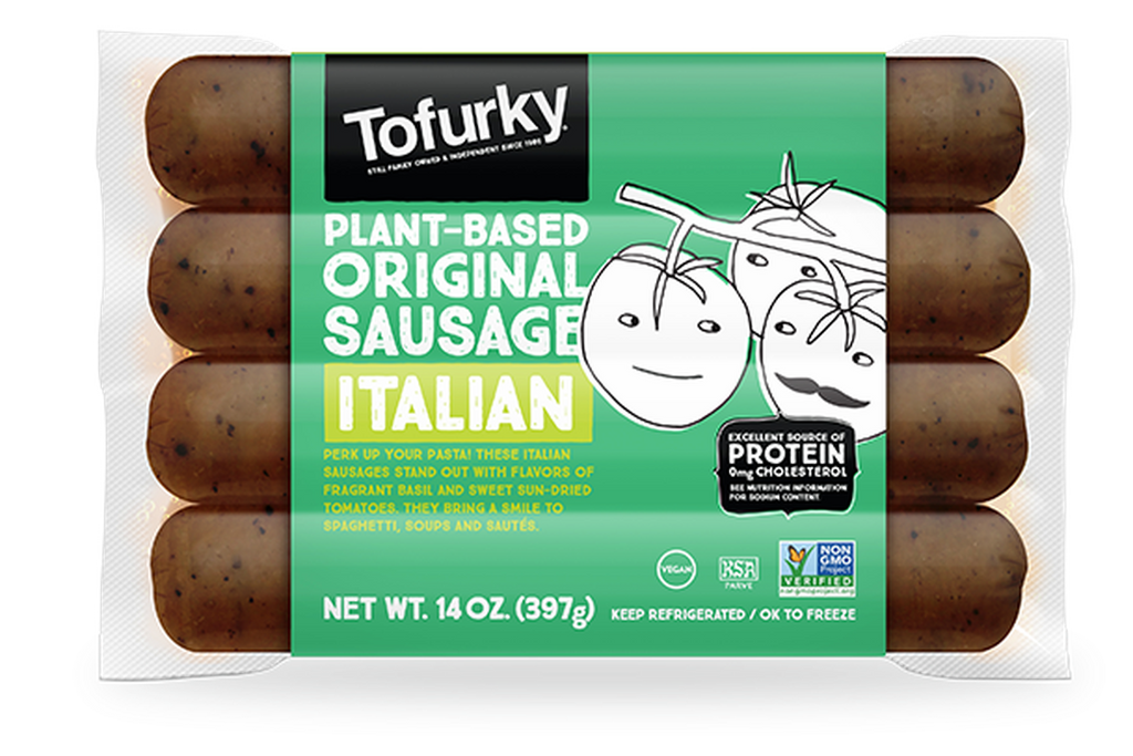 Tofurky Italian Style Sausages 250g - Shipping From Just £2.99 Or FREE When You Spend £60 Or More