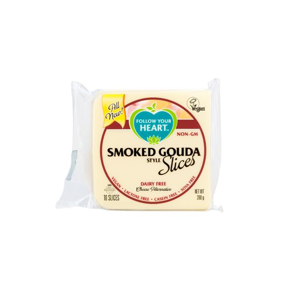Follow Your Heart Smoked Gouda Slices 200g - Shipping From Just £2.99 Or FREE When You Spend £60 Or More
