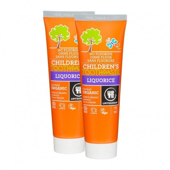 Urtekram Children's Toothpaste Liquorice 75ml - Shipping From Just £2.99 Or FREE When You Spend £55 Or More