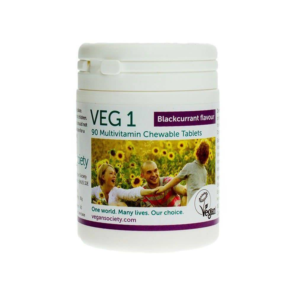 Vegan Society VEG1 Blackcurrant 90 tablets - Shipping From Just £2.99 Or FREE When You Spend £60 Or More