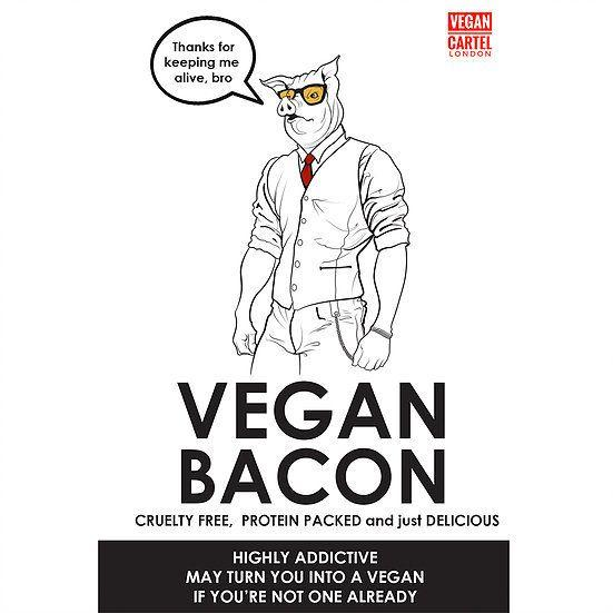 Vegan Cartel Vegan Bacon 80g - Shipping From Just £2.99 Or FREE When You Spend £55 Or More