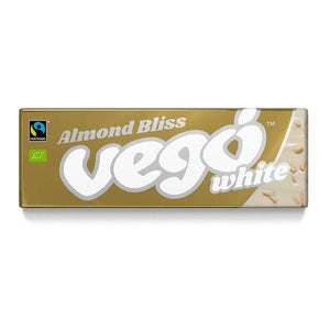 Vego Almond Bliss White Chocolate Bar 50g - Shipping From Just £2.99 Or FREE When You Spend £60 Or More