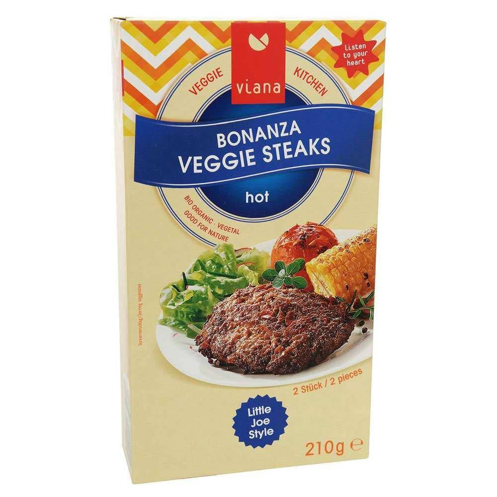 Viana Bonanza Veggie Steaks 210g - Shipping From Just £2.99 Or FREE When You Spend £60 Or More