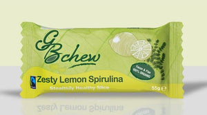 GB Chew Zesty Lemon Spirulina 55g - Shipping From Just £2.99 Or FREE When You Spend £55 Or More