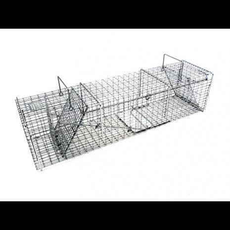 Tomahawk 7x7 Pro Double Door Skunk Trap Featuring One Flush Mount