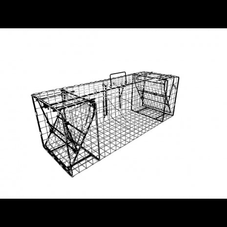 "Comstock 12' x 12' x 36' Double Door Beaver/Otter Trap with 1.5"" x 1.5"" Wire Mesh"