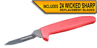 Wiebe Boss Dog Scalpel Knife with 24 replacement blades