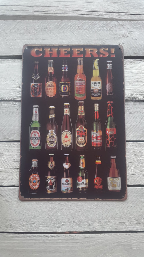 A4 Craft Beers In Bottles Sign