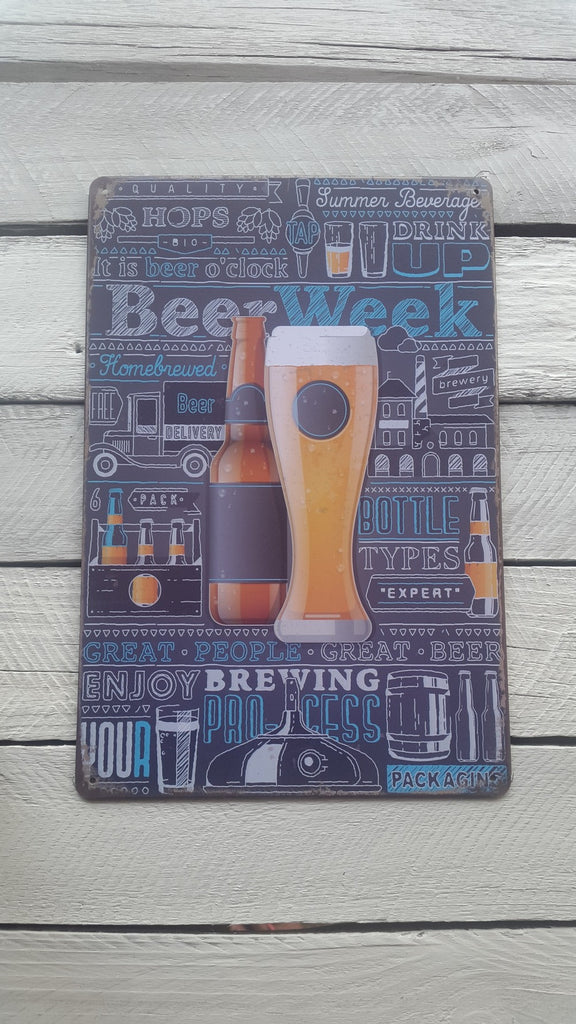 A4 Brewing Beer Glass And Bottle Sign