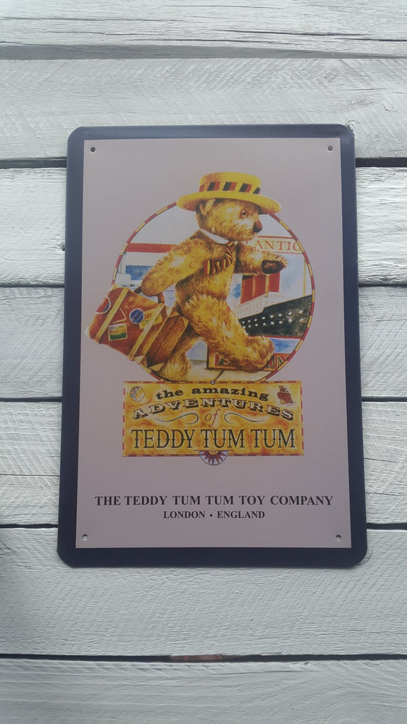 "A4 ""The Amazing Adventures Of Teddy Tum Tum"" Sign"