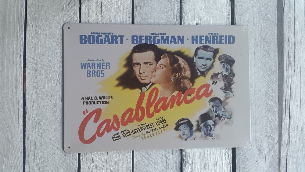 A4 Casablanca Movie Poster Sign