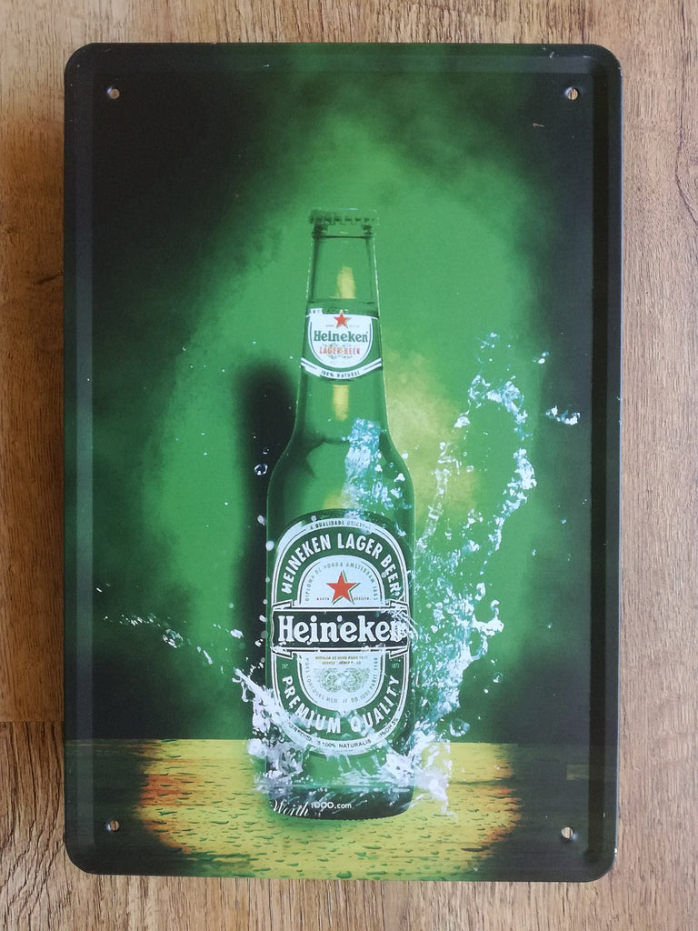 A4 Heineken Bottle Sign