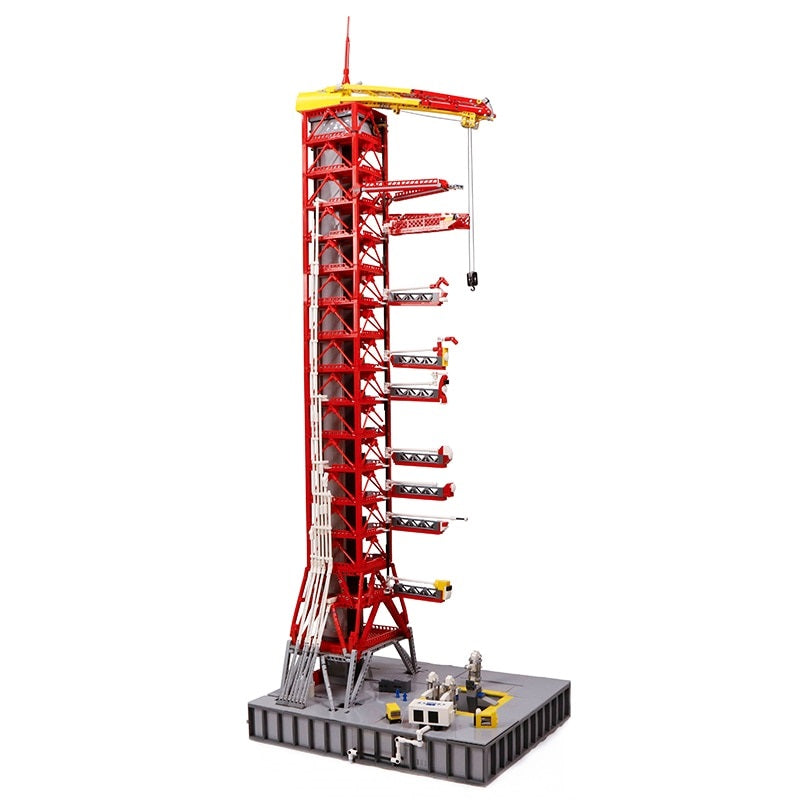 Tower Blocks 3073PCS Space Series Apollo Saturn V Launch Umbilical Tower Gift Kid