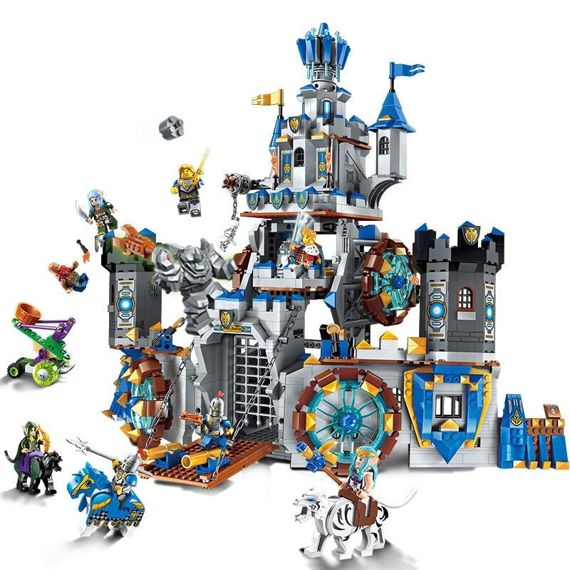 Block Castle Lepining Building Block War Of Glory Castle Knights The Battle 1541pcs Educational Bricks Toy Gift