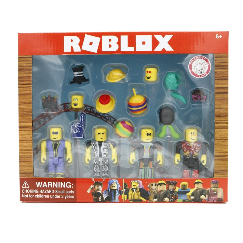 Roblox Toys Disco Madness Mix Set 4pcs Pack PVC Suite Dolls Model Toys For Boys Christmas Gifts