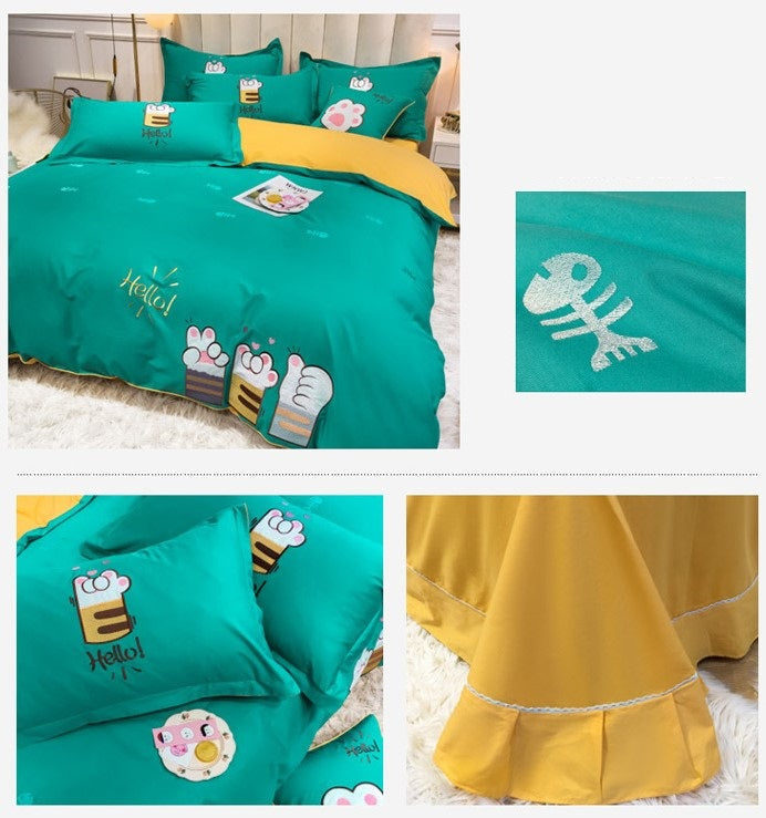 Kids Bedding Sets 60 Long-Staple Cotton Satin Embroidery