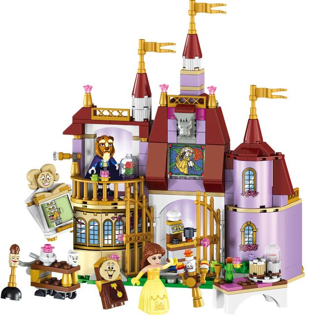 Block Castle Princess Castle Building Block Bricks Lepining Friends Girls Toys