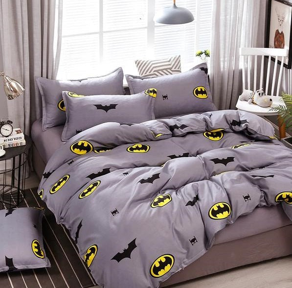 Batman Bedding Pattern Bed Linings Duvet Cover Bed Sheet Kids Bedding Sets Twin Full Queen King Size
