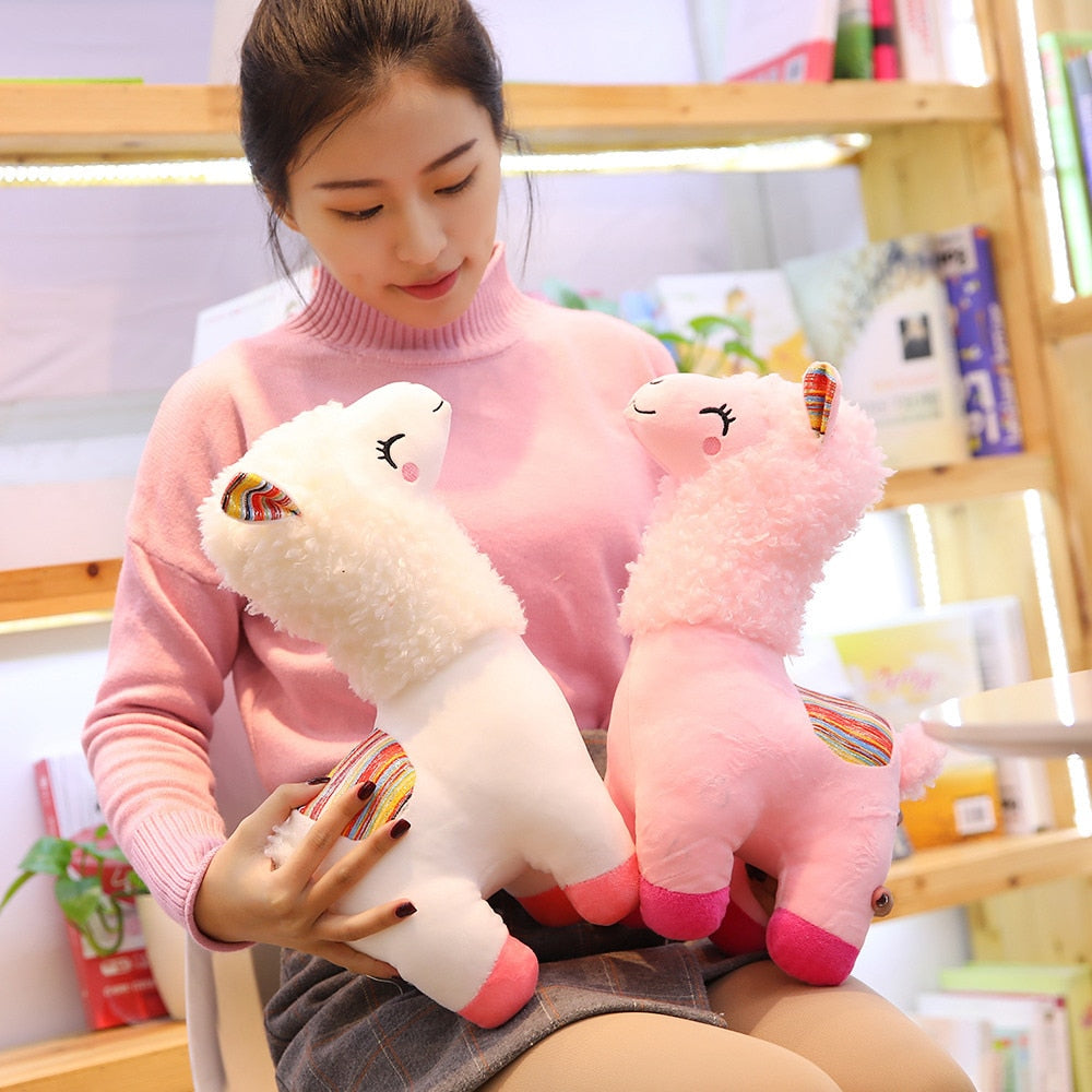 Llama Stuffed Animal Lovely Plush Toy Doll Soft 4 Colors For Kids
