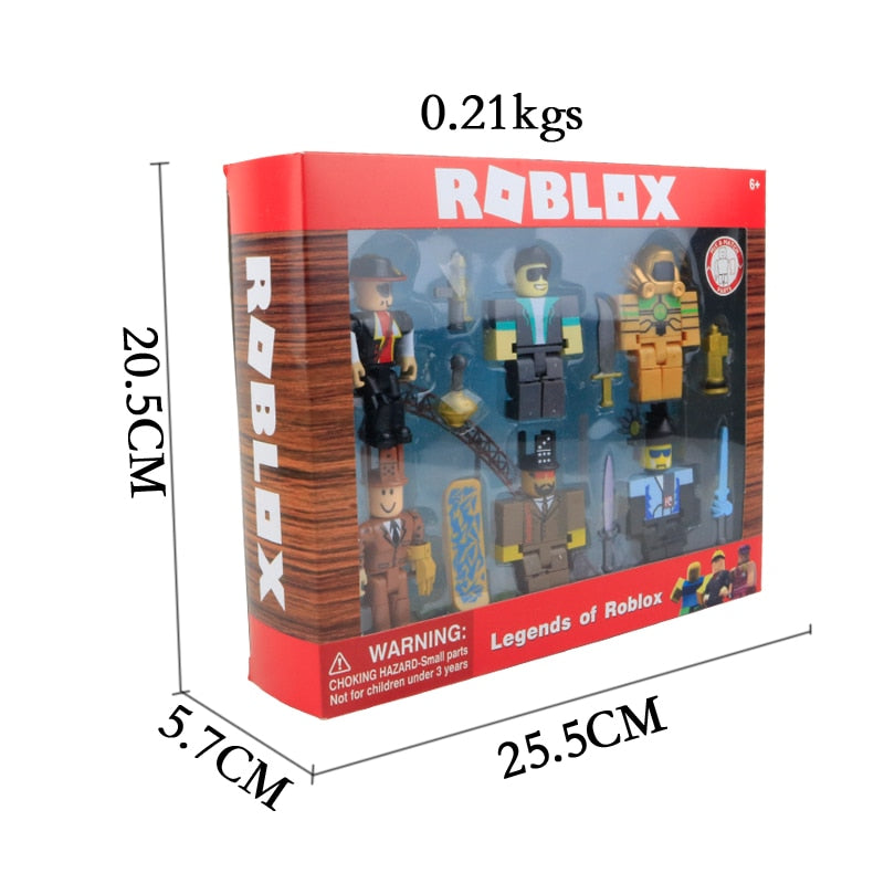 Roblox Toys Legends of Roblox Six Figure Pack Model Dolls Toys Kid Gift For Boys
