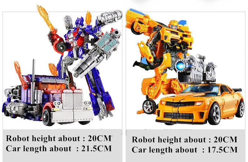 Transformers Toys Anime Action Figure ABS Robot Car Tank Plastic Model Gift For Kids