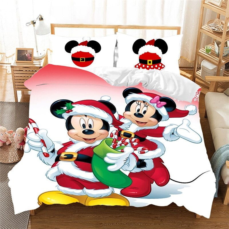 Christmas Bedding Sets Minnie Mickey Twin Full Queen King Gift Nightmare Before Christmas
