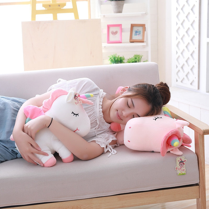 Unicorn Stuffed Lovely Plush Toy With Rainbow Wings Baby Kids Gift