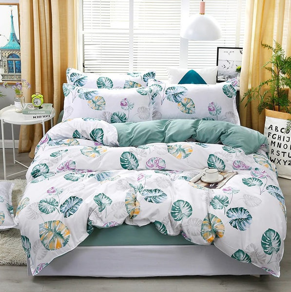 Kids Bedding Sets New Blue Banana Leaf Pattern Bed Linings Duvet Cover Many Styles Twin/Full/King/Queen Size