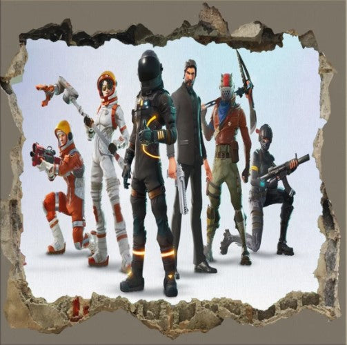 Canvas Wrap Fortnite 3D Picture  Framed Wall Art For Living Room Home Decoration