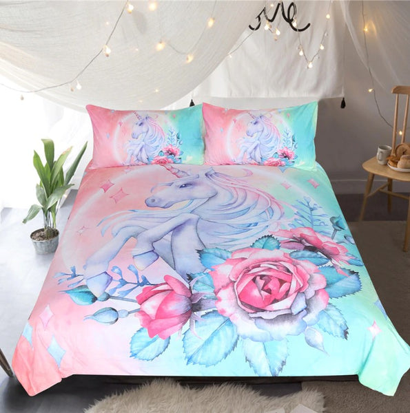 Bedding Outlet Unicorn Bedding Sets Duvet Cover Kids Bedding Sets Twin/Full/Queen/King Size