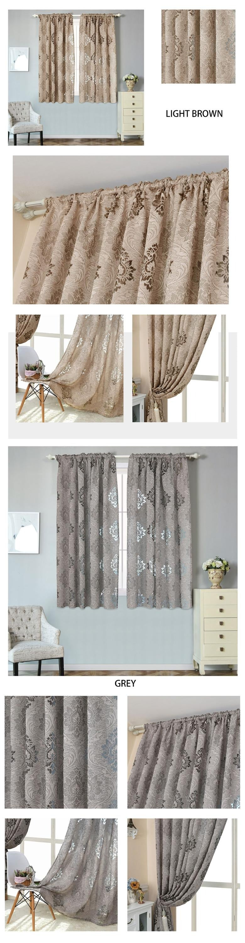 Kitchen Curtains Grey Short Window Curtains Fabrics For Christmas Rustic Decorative