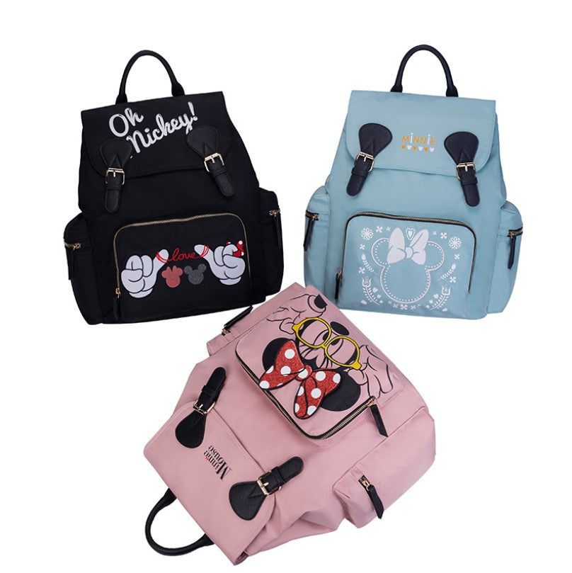 Mickey Mouse Backpack Waterproof Capacity Mother And Baby Bag