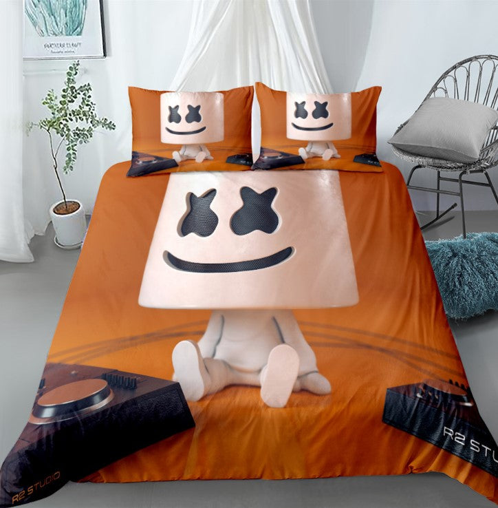 Fortnite Bed Set 3D Cross-Border Home Textile Marshmello For Fan