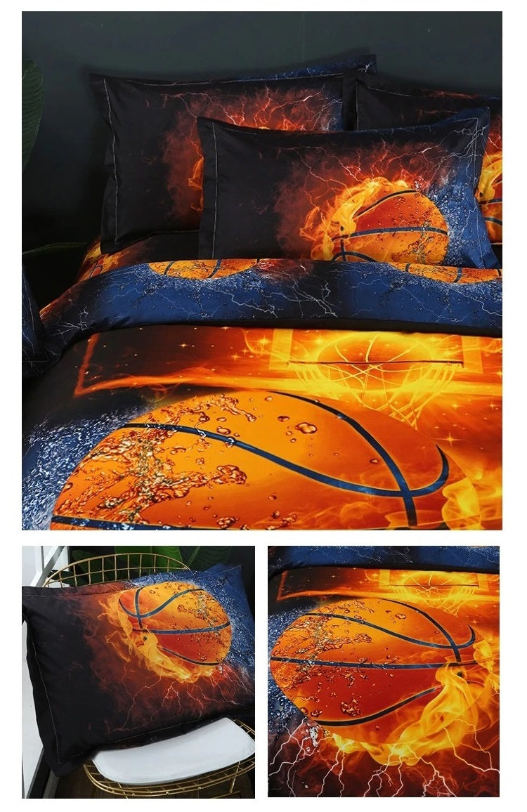 Christmas Bedding Sets 3D Football Sport Series Soft Basketball Queen King Size Gift Bed Sets For Boys