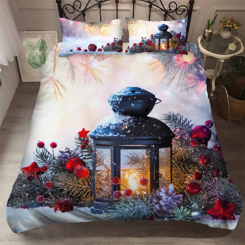 Christmas Bedding Sets 3D Luxury Cartoon New Year's Gift For Kids