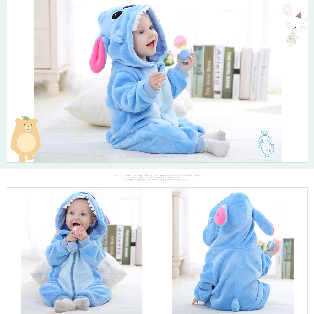 Kids Hooded Blanket Cotton Pajamas For Children Babies Costumes