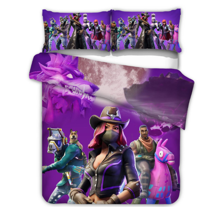 Fortnite Bed Set 3D Cross-Border Home Textile Models In Europe and America