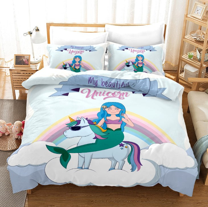Unicorn Bedding 3D Cross-Border