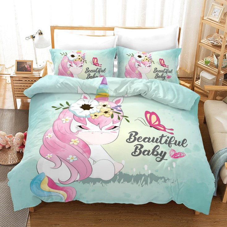 Unicorn Bedding 3D