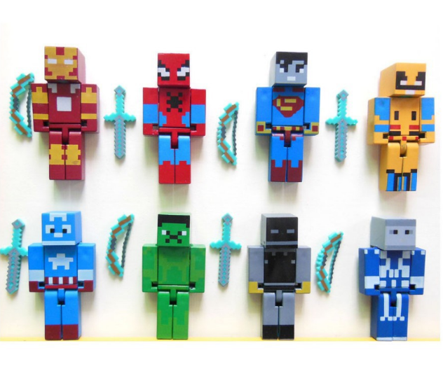 Minecraft Superhero building block Toy set - Lusy