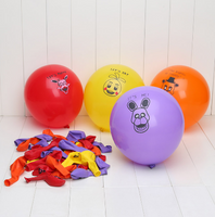 100pcs Five Nights at Freddy's Freddy Fazbear Fox Bonnie Chica Printed Latex Balloons Party