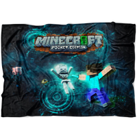 Minecraft Fleece Blanket Sci Fi Black Blanket