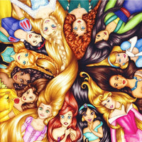5D DIY Drill diamond painting Cross stitch Disney Princesses 3D Rhinestone embroidery - Lusy Store