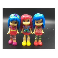 6 pcs Polly Pocket 90s Toy Doll Action Figure Strawberry Princess Doll 8cm For Kids - Lusy Store