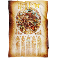Harry Potter Fleece Blanket Survivor Yellow Blanket Warm And Super Comfortable Best Gift For Kids - Lusy Store