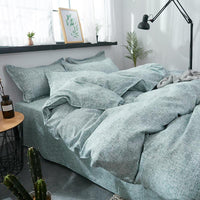 Aloe Cotton Green Color Bedding Sets Duvet Cover Bed Sheet Bed Linen Kids Bedding Sets Twin/Full/Queen/King Size - Lusy Store