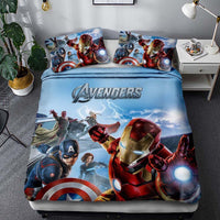 Avenger Bedding 3D Printed Luxury Bed Linen Unique Bed Room For Kids - Lusy Store
